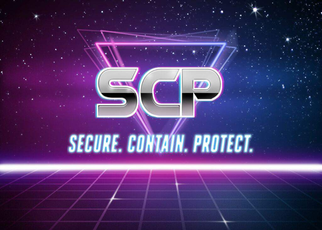 look what have i made with a retrowave image generator | SCP