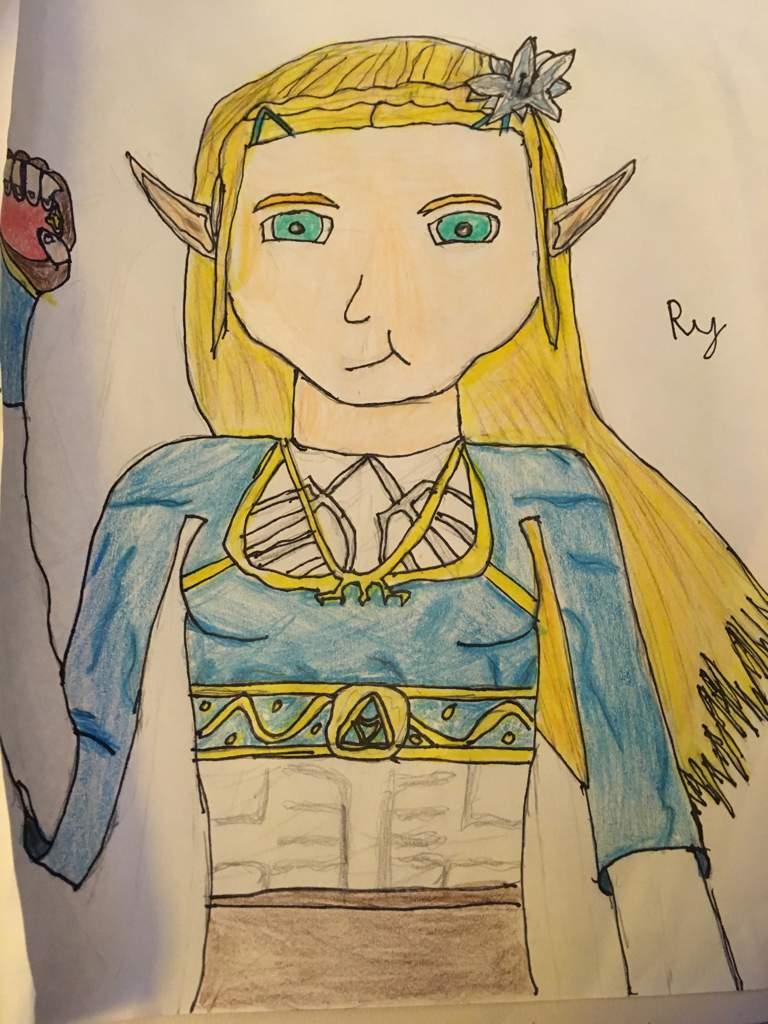 b141d39da6 Adding to the Over Saturation of BotW Zelda Fan Art | Zelda Amino