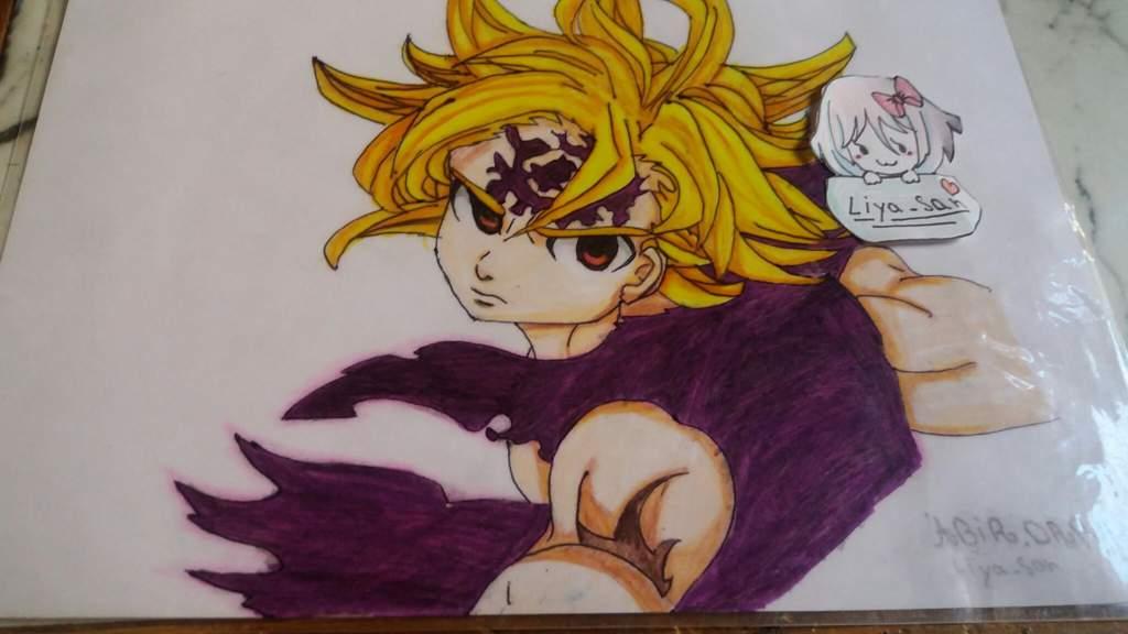 رسمي لشخصية ميليوداس من انمي الخطايا السبع المميتة شو رأيكم