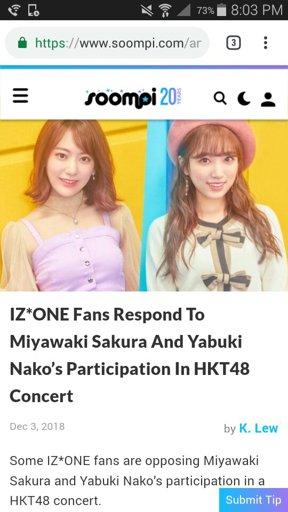OTR's Response to Sakura's & Nako's Participation in HKT48's
