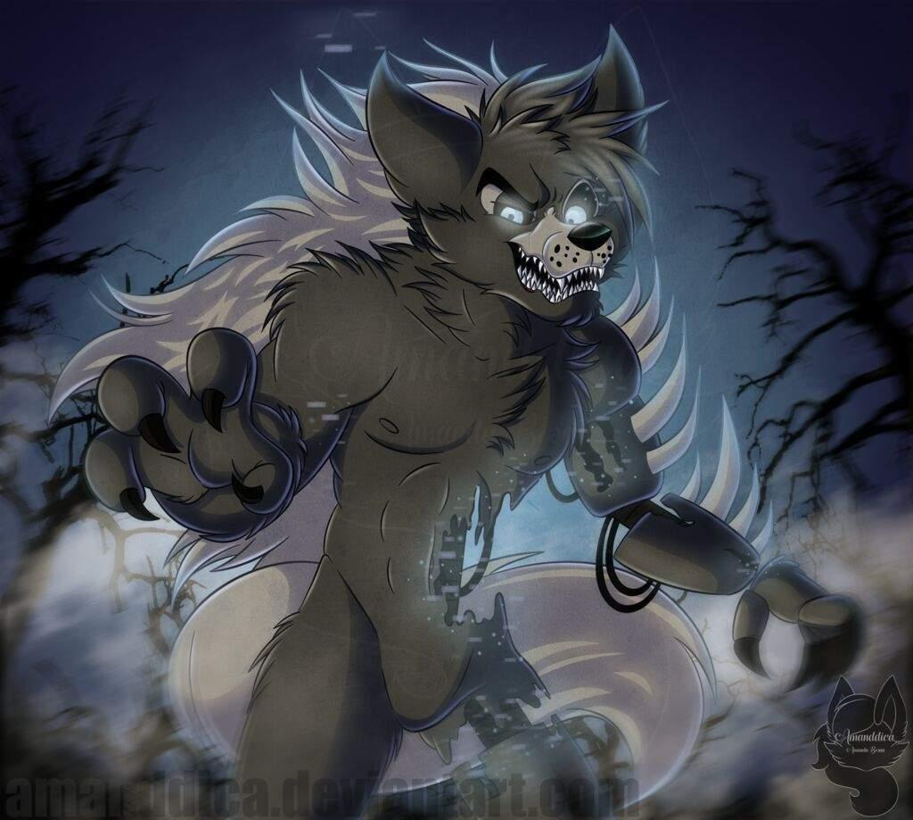 Картинки аниме аниматроники волки