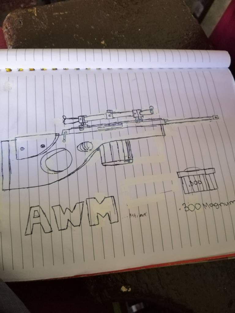 pubg awm drawing