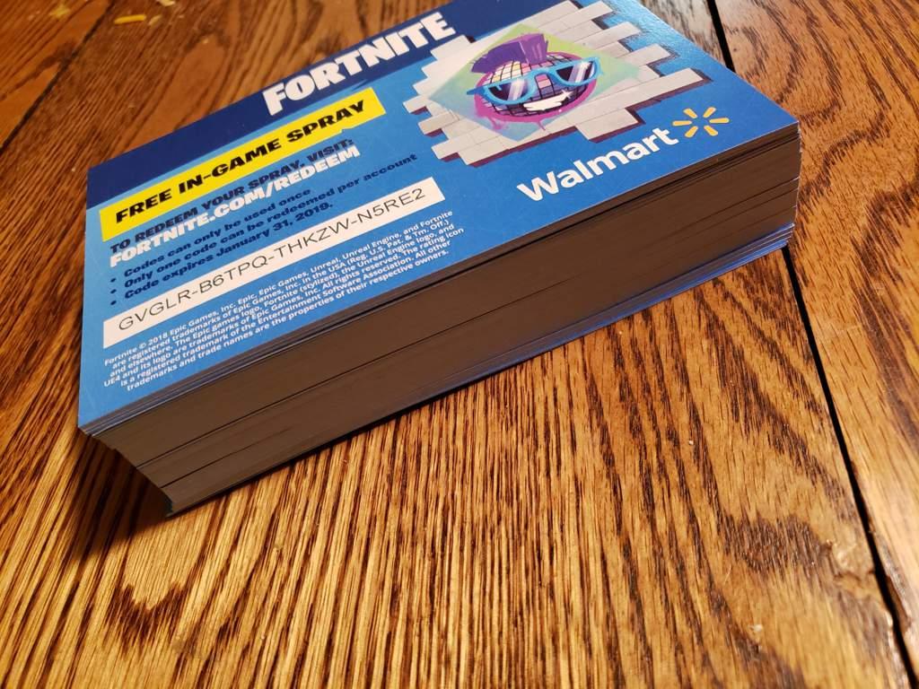Fortnite walmart code giveaway! Dm for a code! | Fortnite