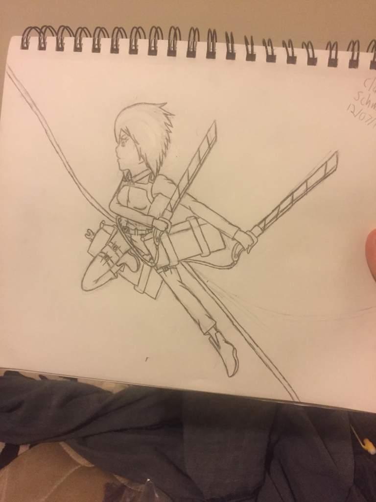 Claudia In A Fighting Pose Attack On Titan Amino