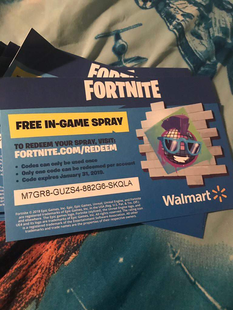 Fortnite Free Walmart Code