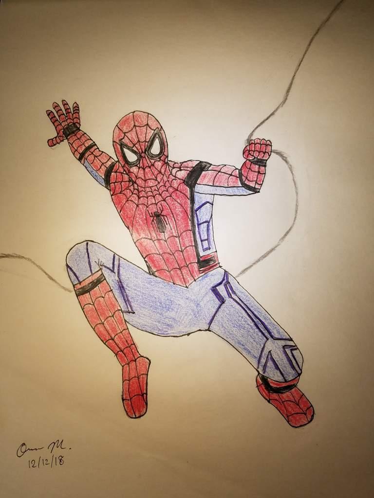 My 2nd mcu spider man drawing