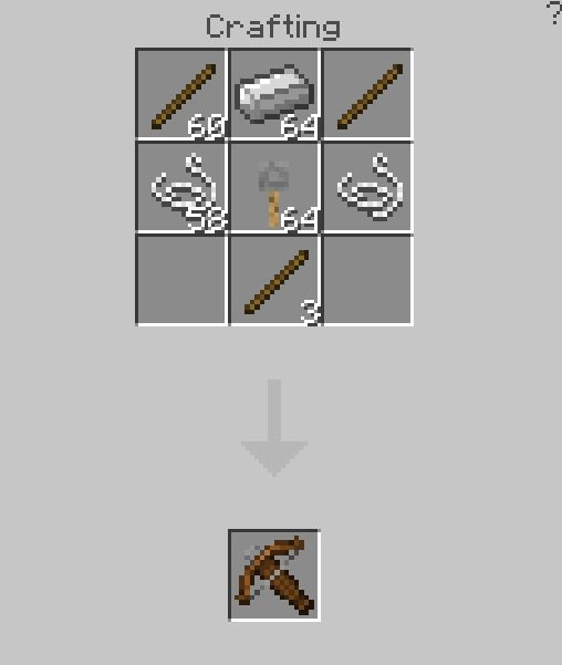 minecraft crossbow recipe