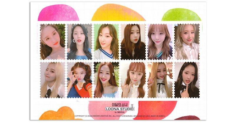 loona studio postcard + stamp set scans ♡ | LOOΠΔ Amino Amino
