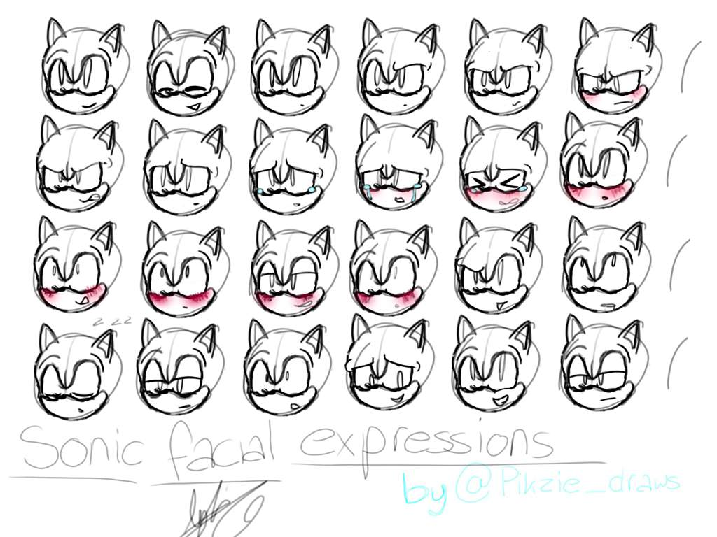 Sonic Facial Expressions Sonic The Hedgehog Amino
