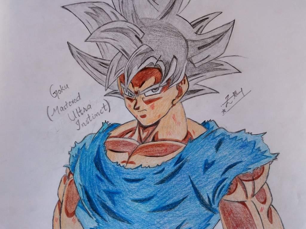 Drawing goku ultra instinct