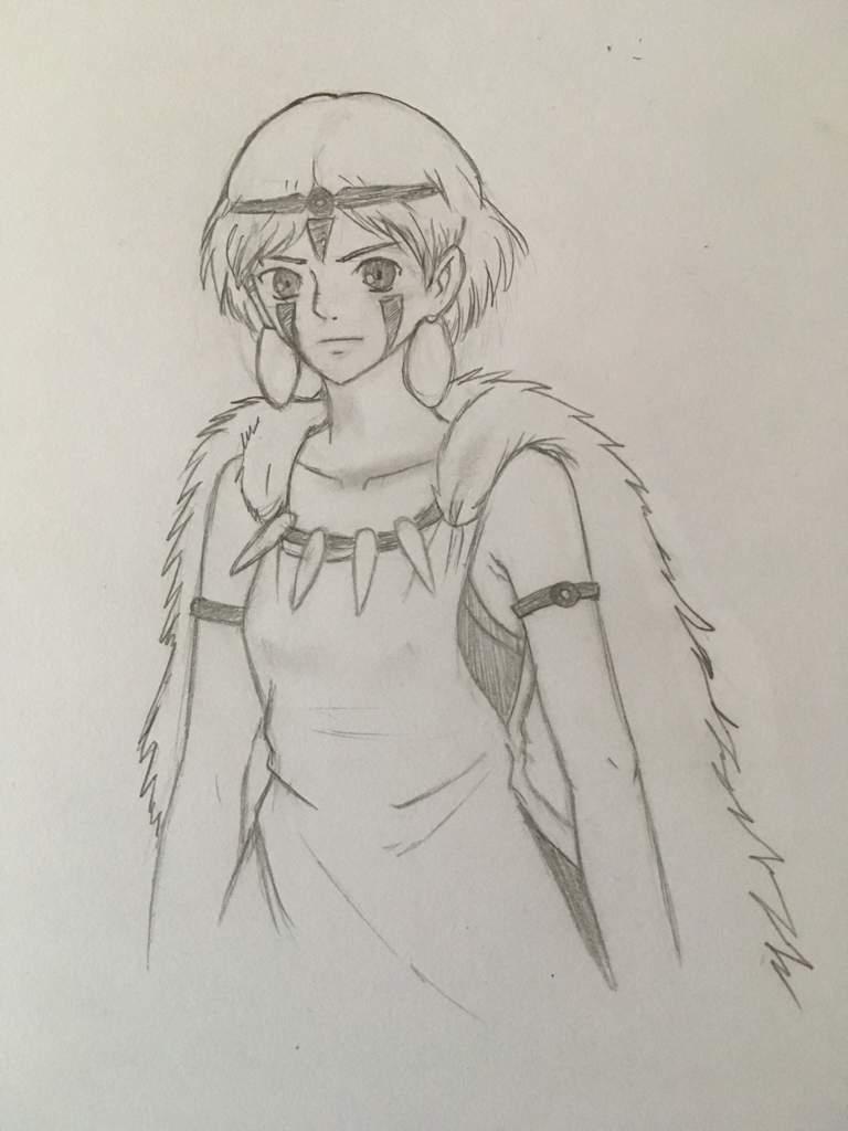 Dessin De La Princesse Mononoke Anime Et Manga Amino