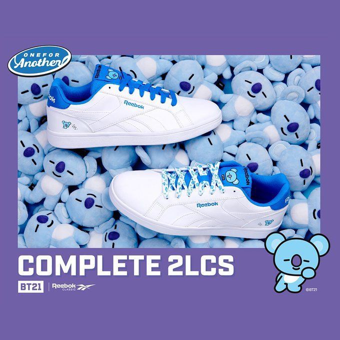 20fb9e816ab23 NEWS  BT21 Royal x Reebok Classic Collaboration