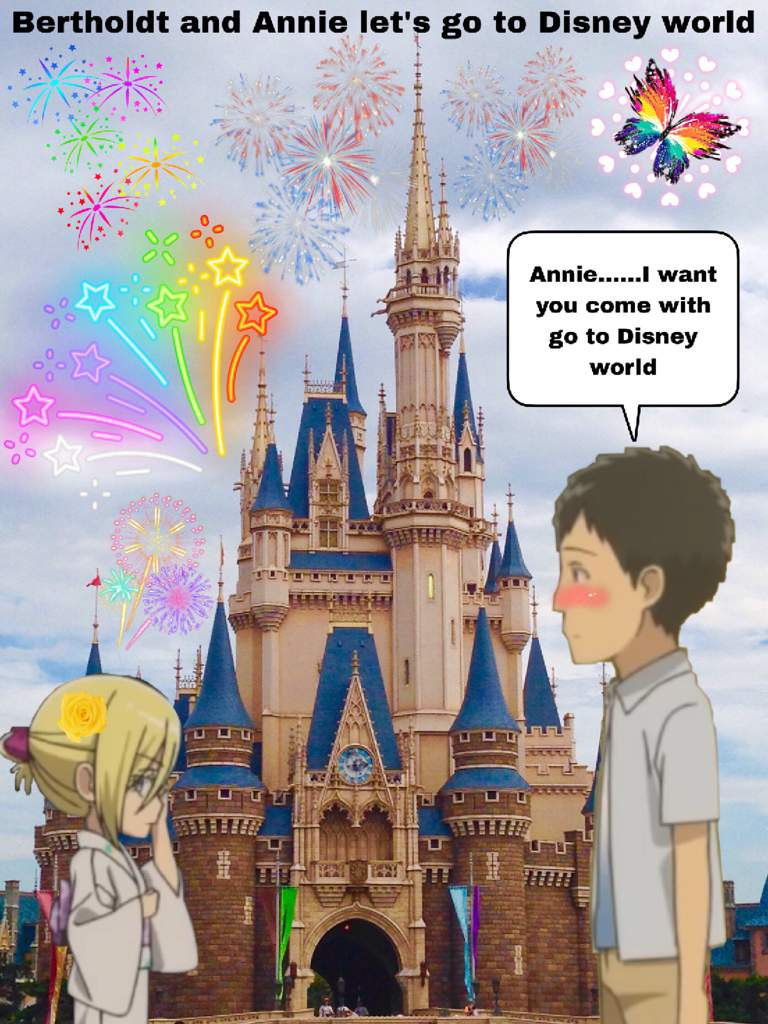 Bertholdt and Annie let's go to Disney world | Attack On