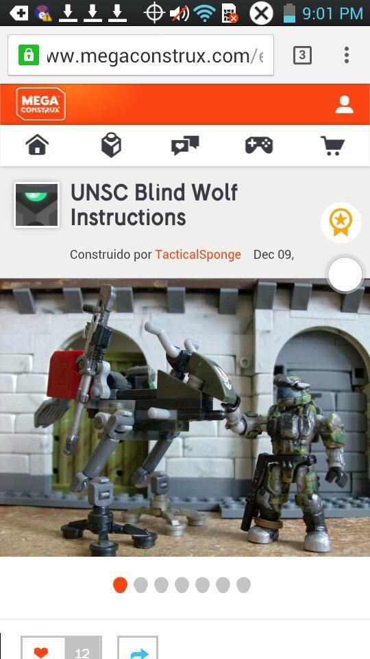 Manual unsc blind wolf   Halo Mega Bloks Amino