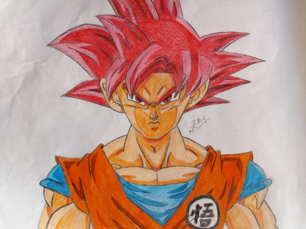 Drawing Goku Super Saiyan God Dragonballz Amino
