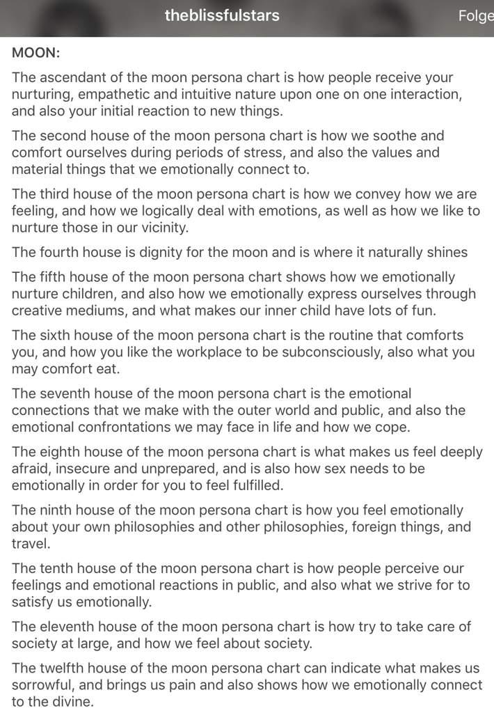 My Moon Persona Chart | Zodiac Amino