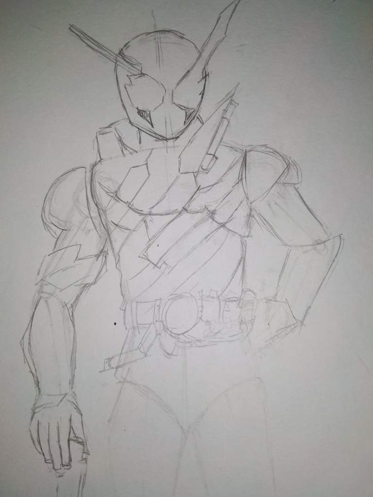 I Try To Draw Kamen Rider Build And Give Up Midway Kamen Rider