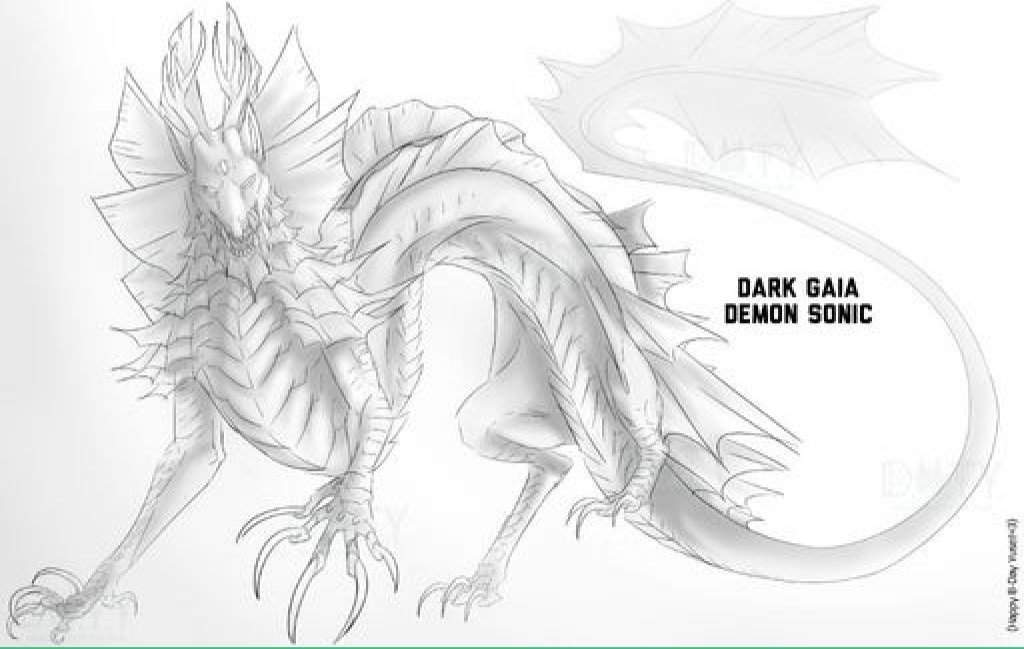 Dark Gaia Demon Sonic | Wiki | Sonic the Hedgehog! Amino