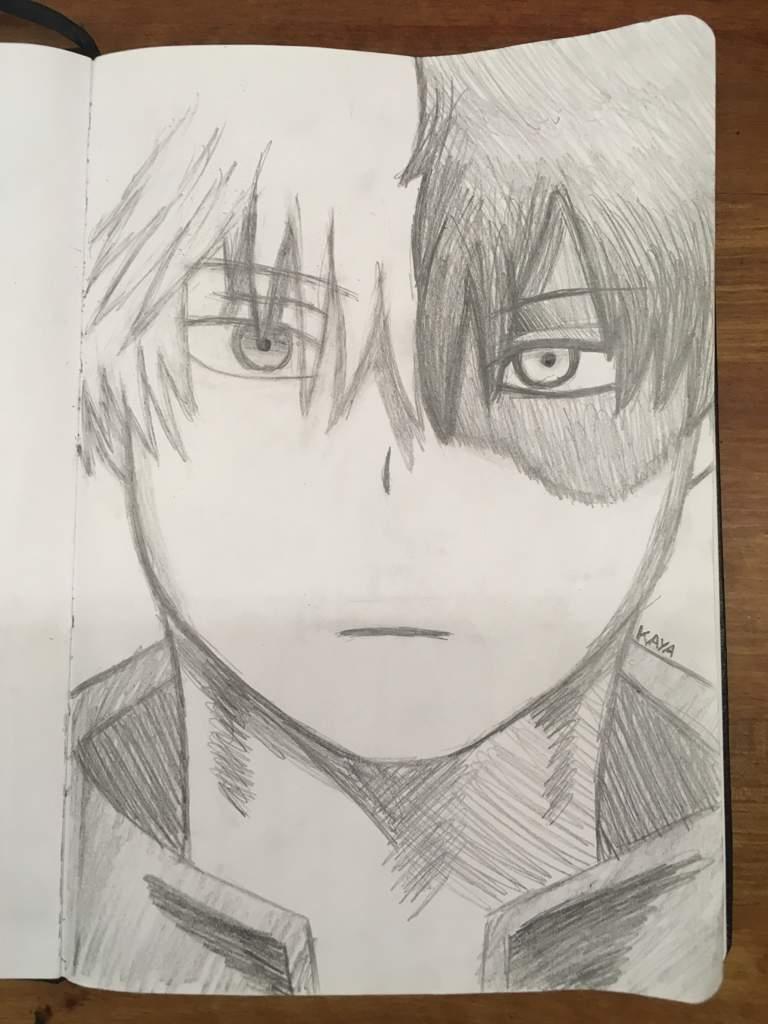 Pencil Drawing Of Shoto Todoroki My Hero Academia Amino