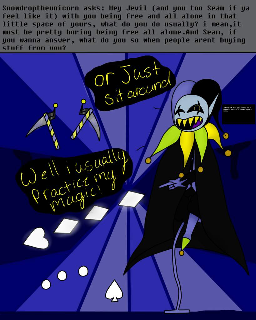 Ask Jevil and Seam #2 | Deltarune  Amino