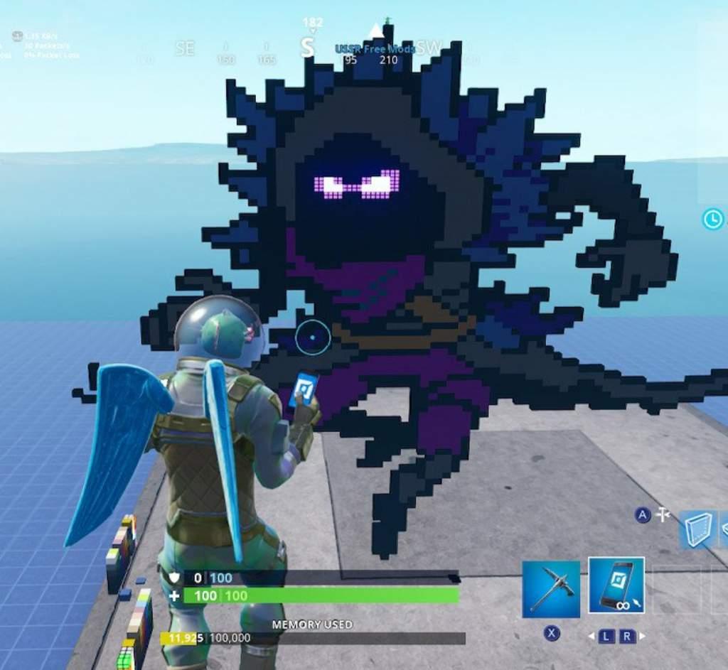 Pixel Art Raven Fortnite