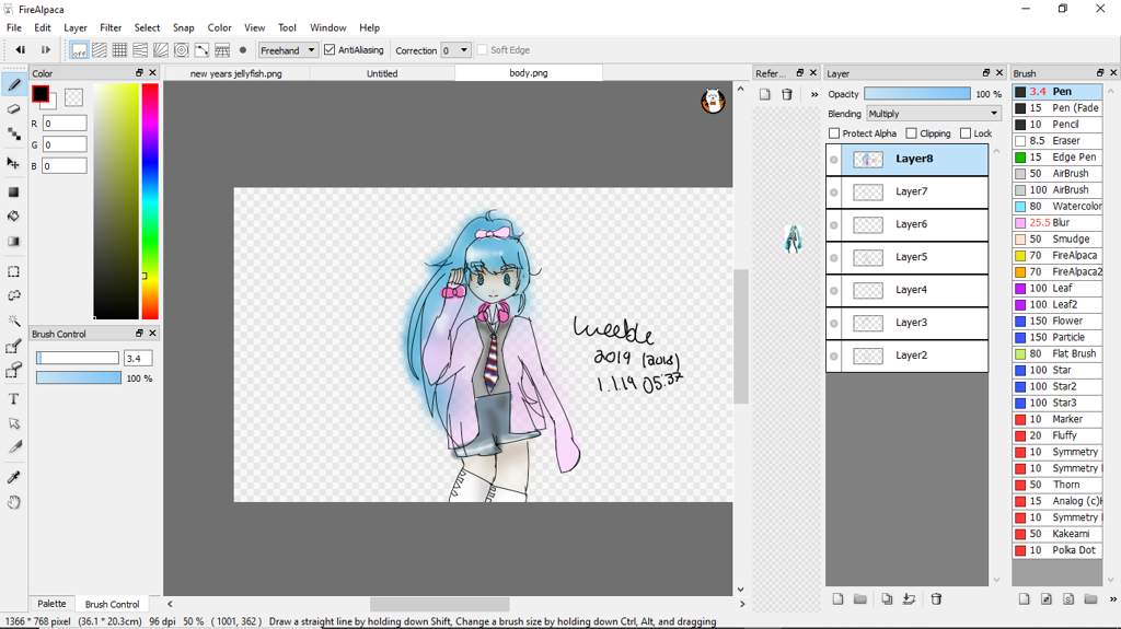 ribbon girl miku [2019/2018 remake] | Vocaloid Amino