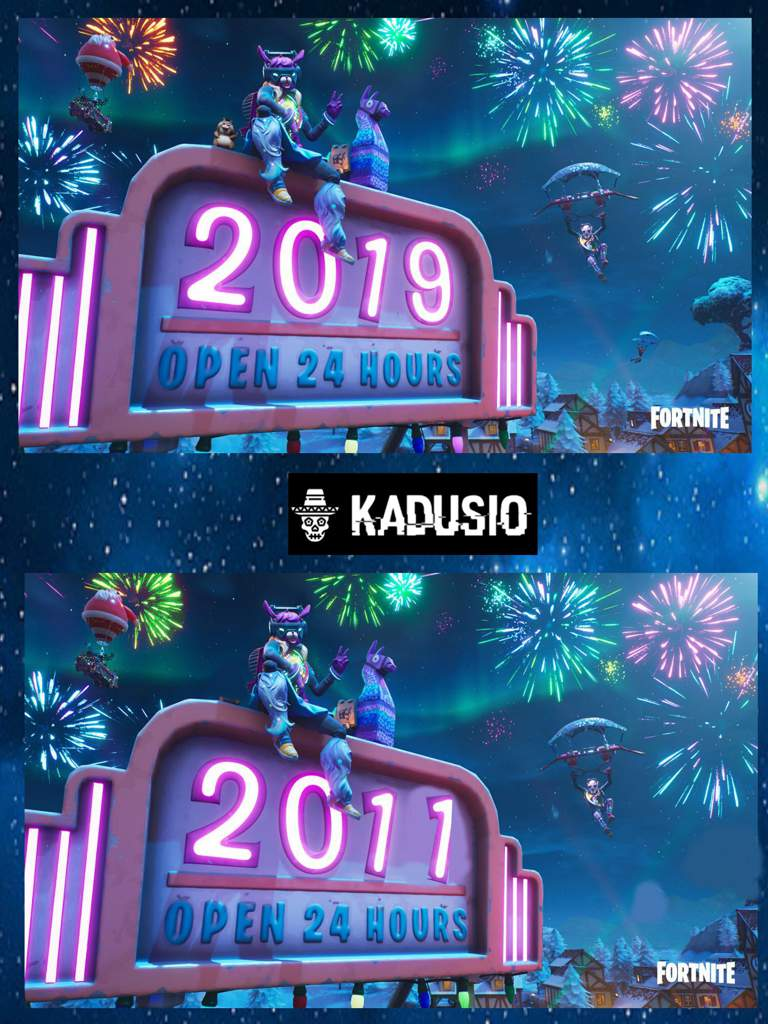 Spot The Difference Welcome To 2019 Fortnite Battle Royale