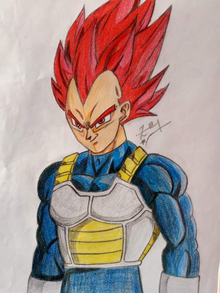 Drawing Vegeta Super Saiyan God Dragon Ball Super Official Amino