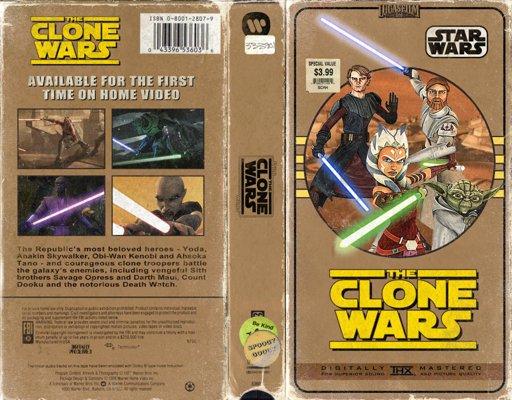 Star Wars: The Clone Wars - VHS Cover Art | Star Wars Amino