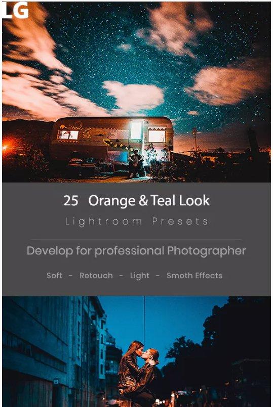 25 Teal & Orange Lightroom presets download free  zip for lightroom