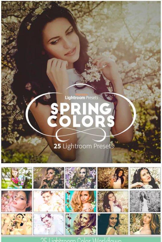 Spring Colors Lightroom Workflow presets download free  zip for