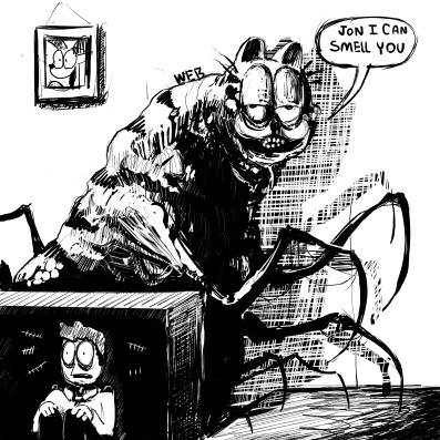 Garfield Transforms Into A Demonic Being And Vores Jon Dank Memes Amino