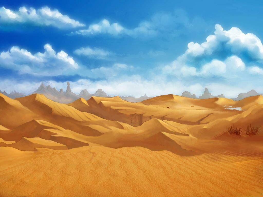 Рисунок пустыни картинка