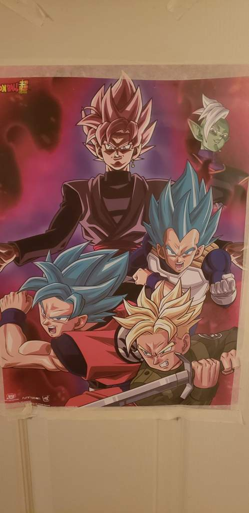 Dragon Ball Super Poster Goku Black Weapon 12inx18in Free Shipping
