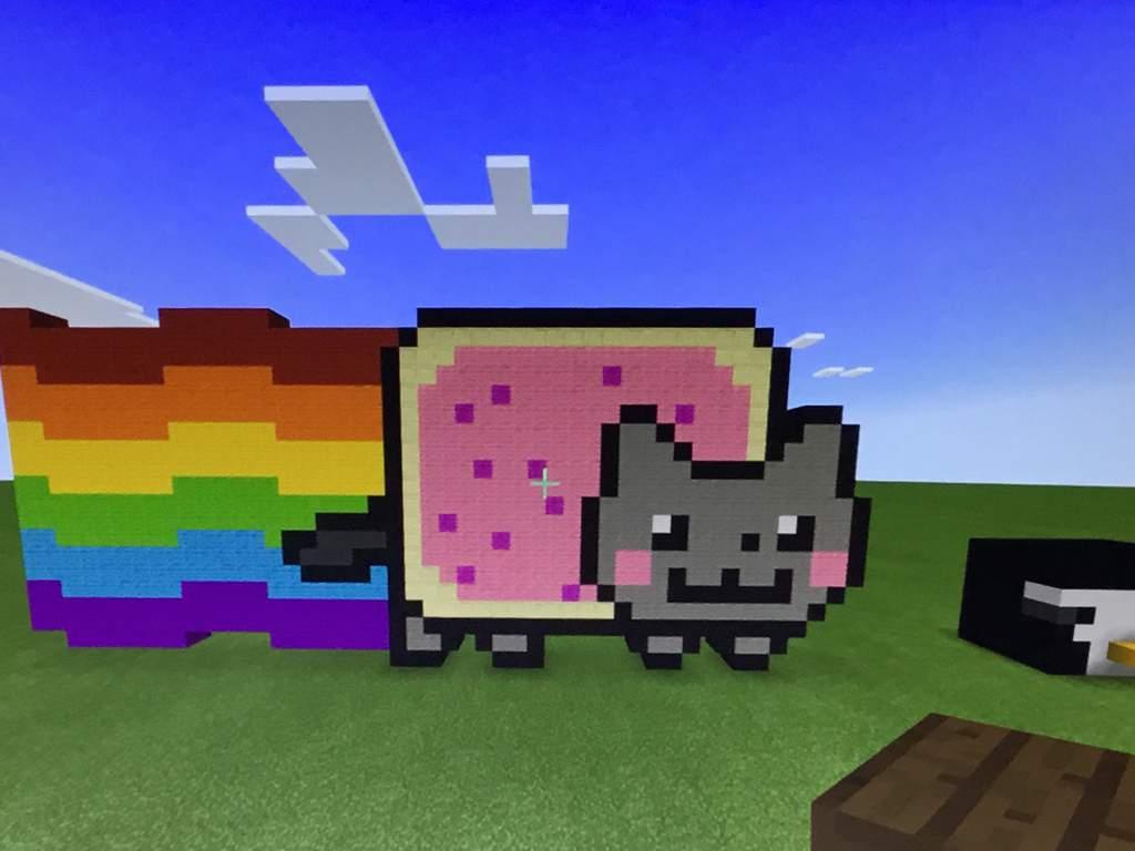 Nyan Cat Pixel Art Minecraft Amino