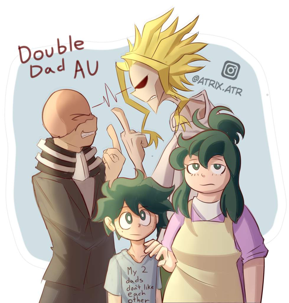 DoubleDad AU (feat: DadMight)   My Hero Academia Amino