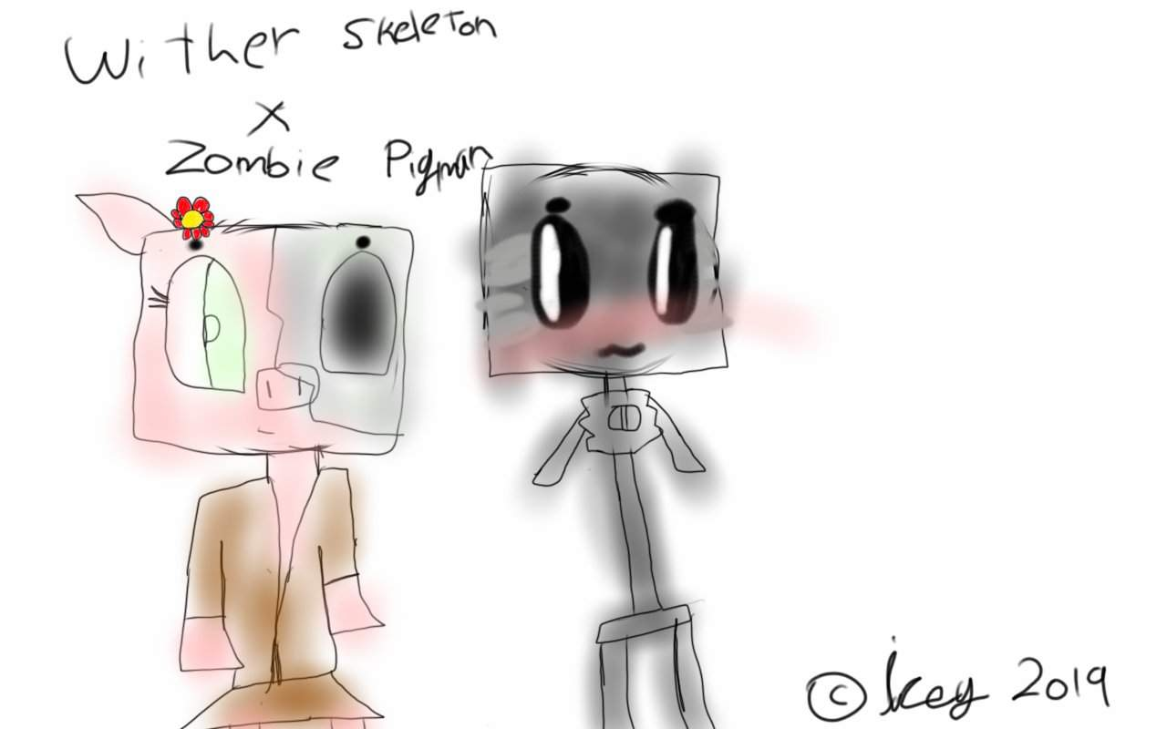 Wither skeleton x zombie pigman  Minecraft Amino