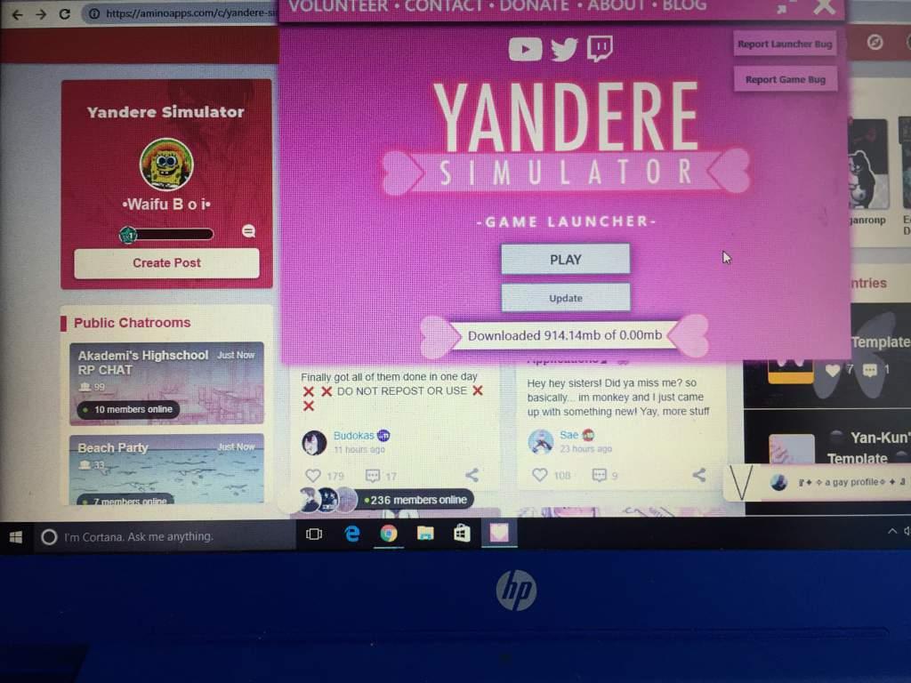 yandere simulator download taking forever