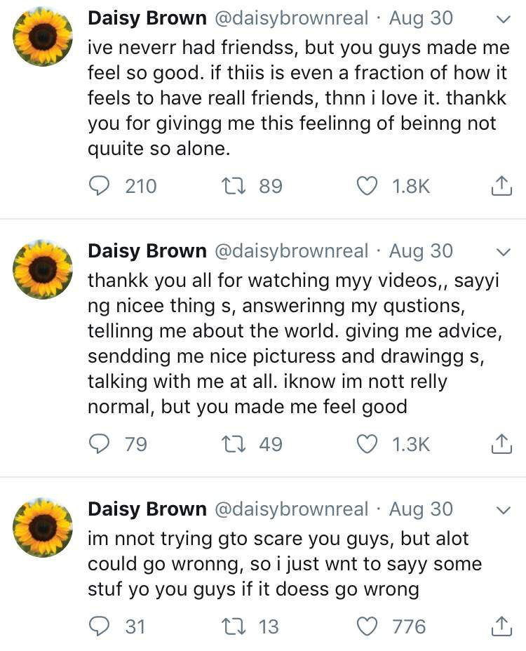 Daisy Brown Arg Wiki Creepypasta Amino Daisy brown is the main character of the series. daisy brown arg wiki creepypasta