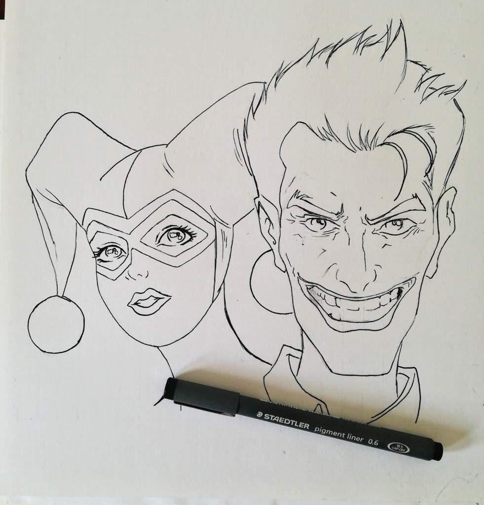 Dibujo Harley Quinn The Joker Comics Amino