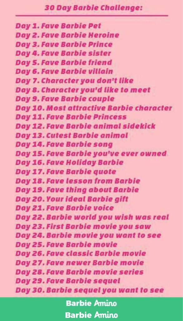 30 Day Barbie Challenge Day 18 Barbie Amino