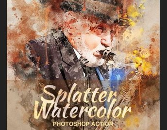 Where can i download watercolor graphicex photoshop action free  zip