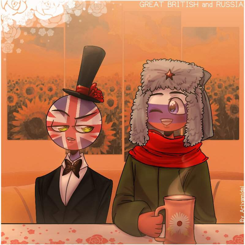 Countryhumans: Great British and Russia ...
