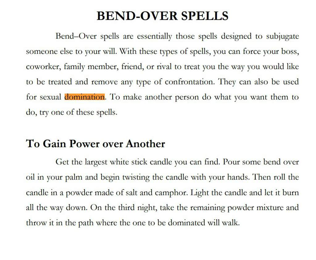Domination spell | from a book | Pagans & Witches Amino