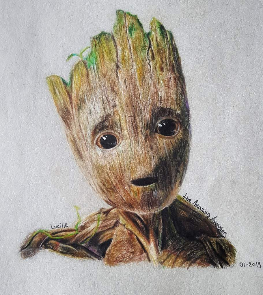Baby Groot Drawing Art Marvel Amino