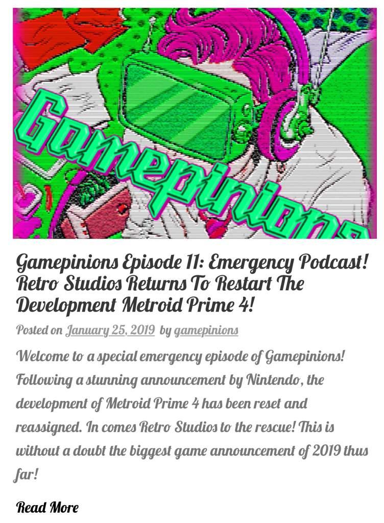 Gamepinions Episode 11: Emergency Podcast! Retro Studios