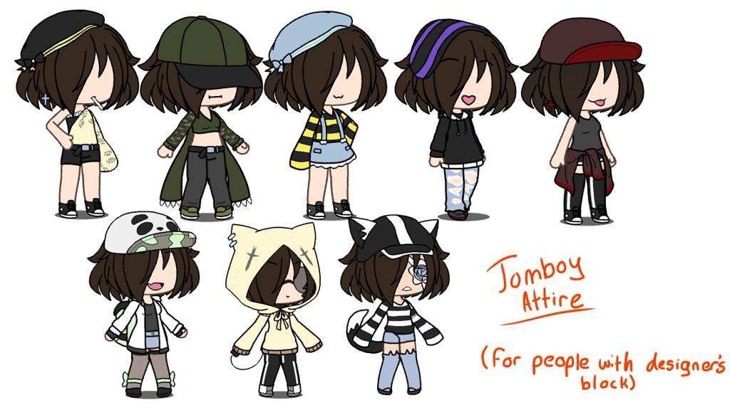 Gacha Life Clothes Tomboy لم يسبق له مثيل الصور Tier3 Xyz