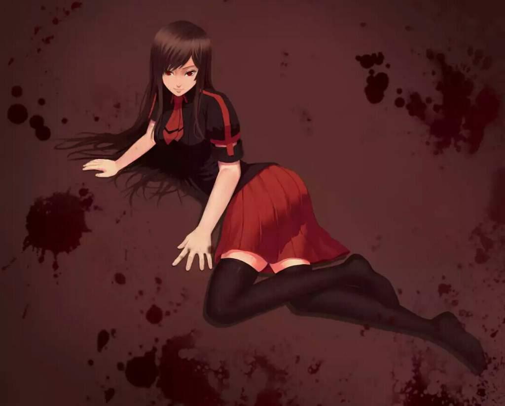 Картинки аниме кровь с сая