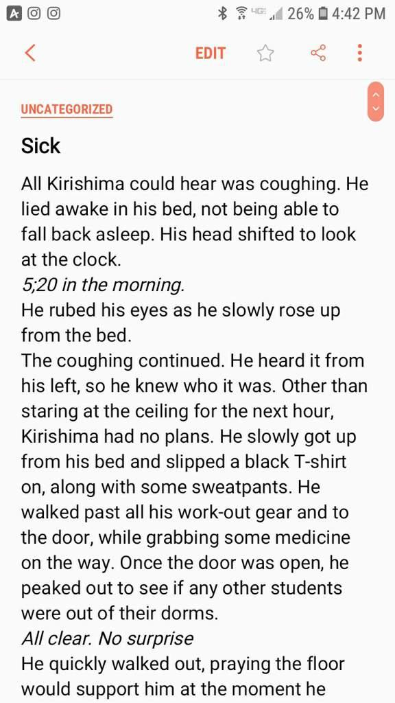 A Sick fanfiction {Kiribaku/Bakushima} | My Hero Academia Amino