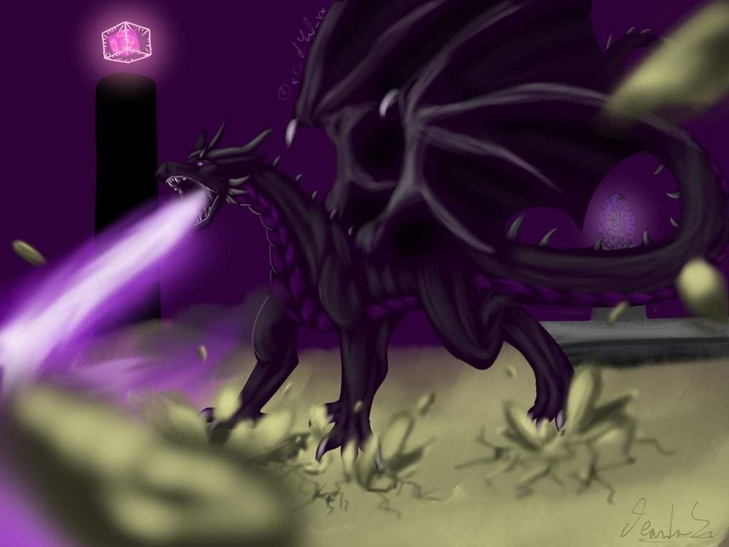 Stay Away Ender Dragon Art🔥🐉 Minecraft Amino